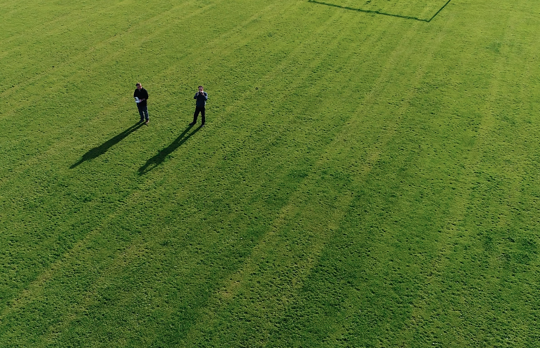 Aerial photography golf leisure