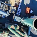 Aerial view of chimneys