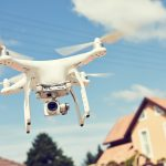 Drone usage in private property protection or real estate inspection