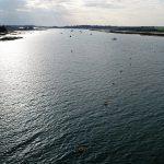 UAVs flight over water