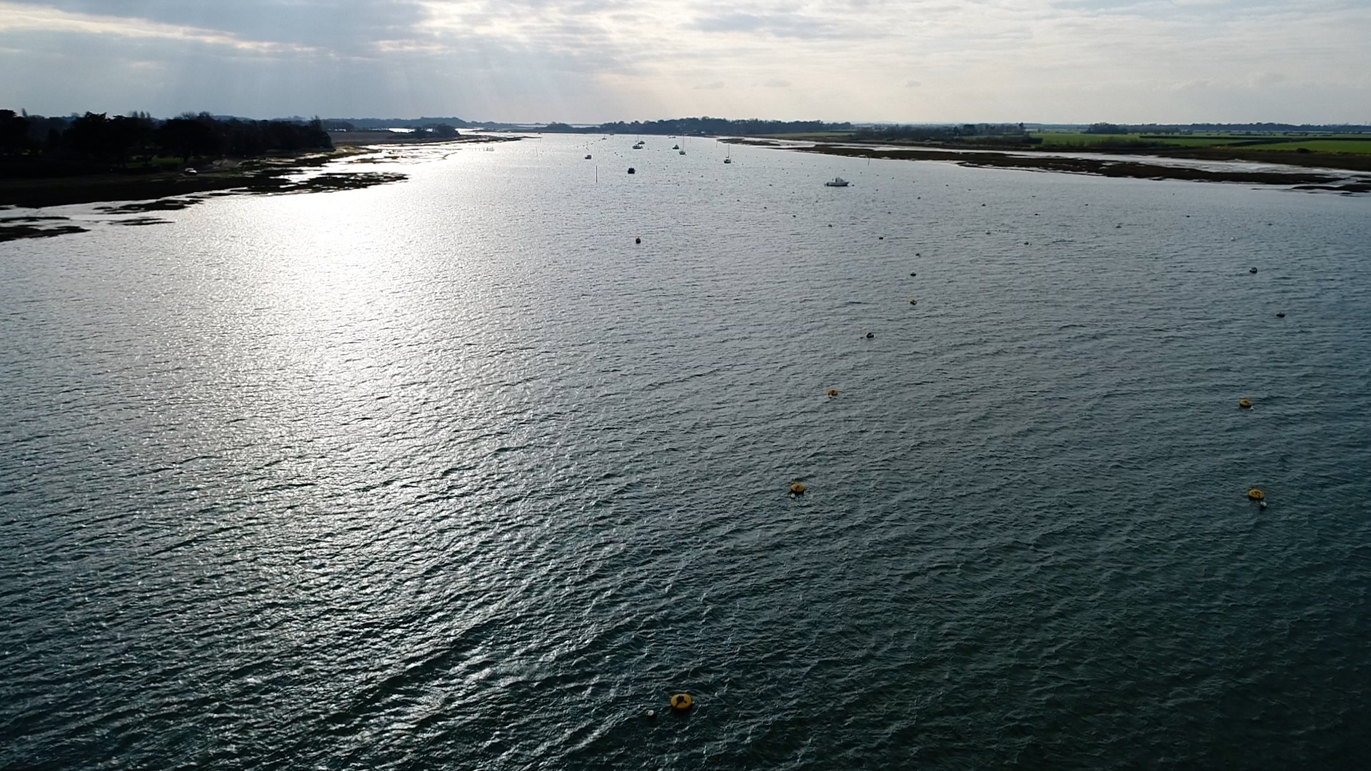 UAVs flight over water