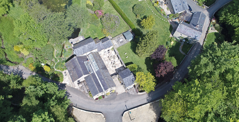 Holiday Property Aerial View by Drone